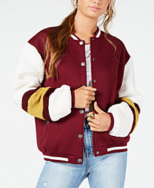 Say What? Juniors' Varsity Sherpa Bomber Jacket