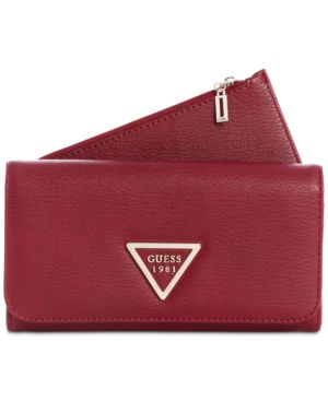 Lauri Boxed 2-In-1 Wallet, Red/Gold
