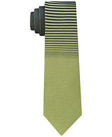 Calvin Klein Men's Panel Skinny Silk Tie