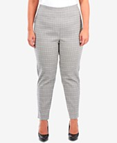 a1640ab31fb NY Collection Plus Size Plaid Slim-Fit Ankle Pants