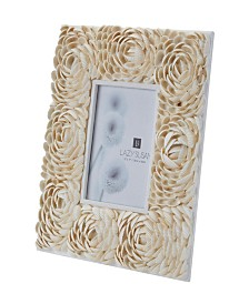 Natural Shell Picture Frame - Flower Pattern