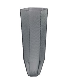 Stacked Cuts Glass Vase