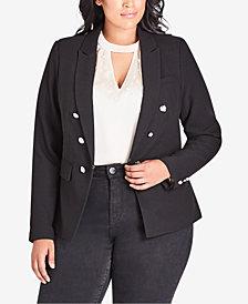 City Chic Trendy Plus Size Embellished Blazer
