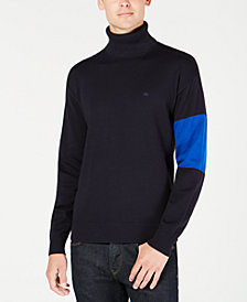 Calvin Klein Jeans Men's Colorblocked Turtleneck Sweater
