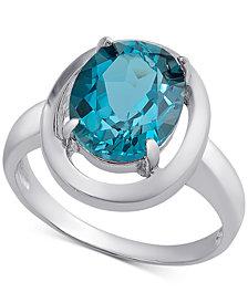 London Blue Topaz Ring (3-1/5 ct. t.w.) in Sterling Silver
