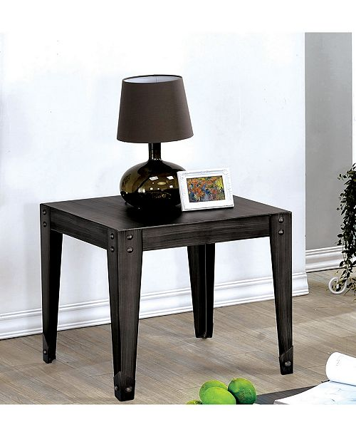 Furniture of America Nikita Weathered Black End Table