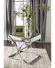 Xander Square Mirrored End Table