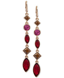 DKNY Gold-Tone Stone Linear Drop Earrings, Created for Macy's