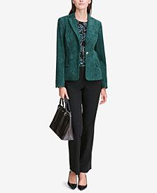 Calvin Klein Faux-Suede Blazer & Modern Fit Trousers