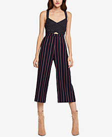 BCBGeneration Cropped Mixed-Print Jumpsuit