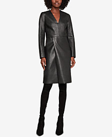 BCBGMAXAZRIA Faux-Leather Shift Dress