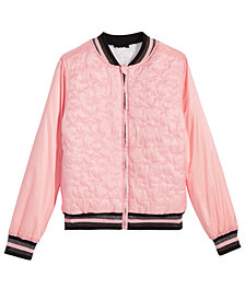 Epic Threads Big Girls Reversible Faux-Fur Bomber Jacket, Created for Macy's