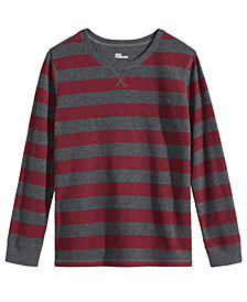 Epic Threads Big Boys Striped Thermal Shirt, Created for Macy's
