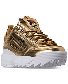 Fila Women's Disruptor II Premium Metallic Casual Athletic Sneakers from Finish Line