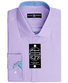 Men's Slim-Fit Non-Iron Performance Print Dress Shirt