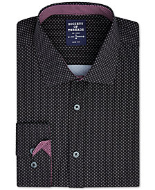 Society of Threads Men's Slim-Fit 4-Way Stretch Diamond Dress Shirt