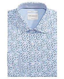 Con.Struct Men's Slim-Fit Stretch Sprocket Pattern Dress Shirt