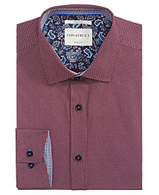 Con.Struct Men's Slim-Fit Stretch Dot Dress Shirt