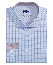 of London Men's Slim-Fit Check Dress Shirt