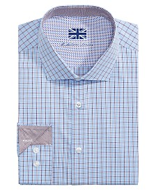 Michelsons of London Men's Slim-Fit Check Dress Shirt