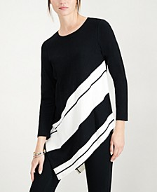 Asymmetrical Striped Sweater, Created for Macy's