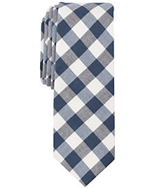 Penguin Men's Gaston Buffalo Check Skinny Tie
