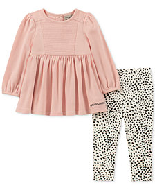 Calvin Klein Baby Girls 2-Pc. Tunic & Printed Leggings Set