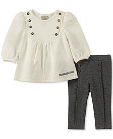 Calvin Klein Baby Girls 2-Pc. Printed Tunic & Leggings Set