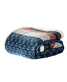 Eddie Bauer Fair Isle Midnight Throw