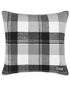 Lodge Dark Grey Square Pillow
