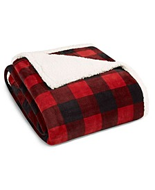 Mountain Plaid Sherpa Blanket Collection