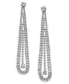 Silver-Tone Crystal Pendulum Drop Earrings, Created for Macy's