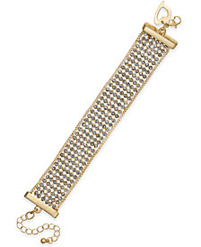Thalia Sodi Gold-Tone Rhinestone Bracelet, Created for Macy's