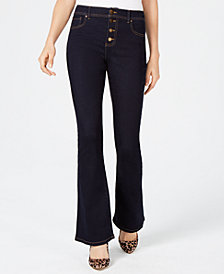I.N.C. High Waisted Button-Fly Bootcut Jeans, Created for Macy's