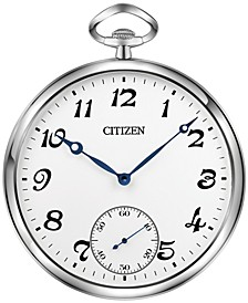 Gallery Silver-Tone & White Pocket-Style Wall Clock