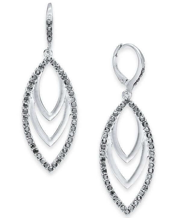INC International Concepts INC Drop Navette Earrings, Created for Macy's