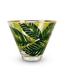 Stemless Martini Glass Botanical Leaf