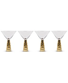 Hammered Martini Glass Set Of 4