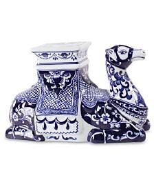 Blue Floral Camel Object