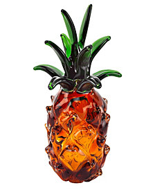 Badash Crystal Pineapple Art Glass Sculpture