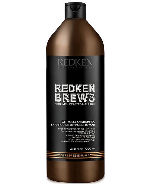 Redken Brews Extra Clean Shampoo, 33.8-oz., from PUREBEAUTY Salon & Spa
