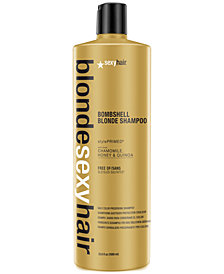 Sexy Hair Blonde Sexy Hair Bombshell Blonde Daily Color Preserving Shampoo, 33.8-oz., from PUREBEAUTY Salon & Spa