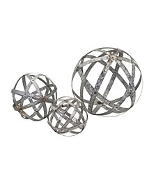 Demi Galvanized Spheres - Set of 3