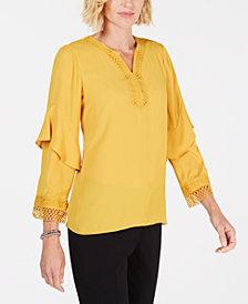 Alfani Yellow Womens Tops Macy S