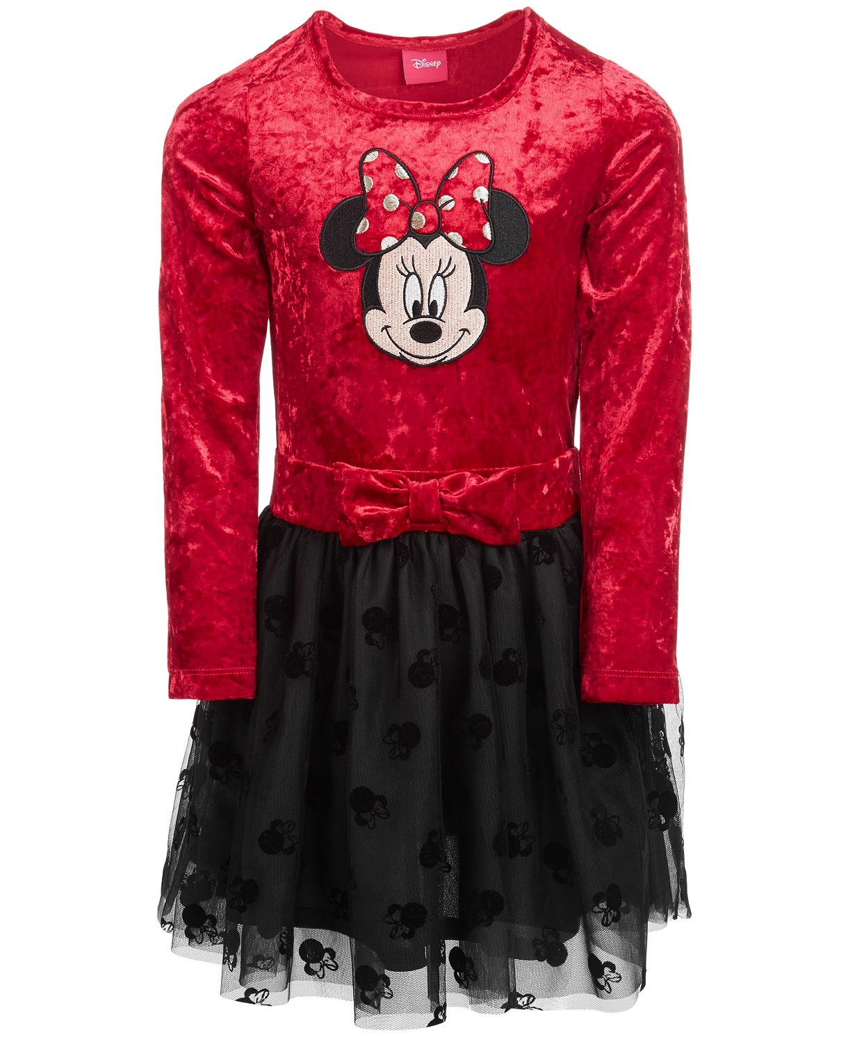 9b658bf2a MACY'S-Disney Little Girls Minnie Mouse Crushed Velvet Dress, Created for  Macy's