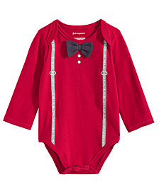 First Impressions Baby Boys Bow-Tie Bodysuit, Created for Macy's