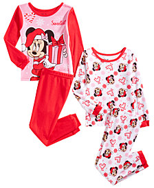 Minnie Mouse Toddler Girls 4-Pc. Cotton Pajama Set