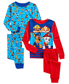 PAW Patrol Toddler, Little & Big Boys 4-Pc. Cotton Pajama Set