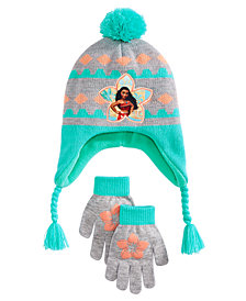 Disney Little & Big Girls 2-Pc. Moana Heidi Hat & Gloves Set