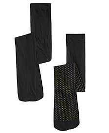 Trimfit Toddler, Little & Bigs Girls 2-Pk. Dot-Print Tights